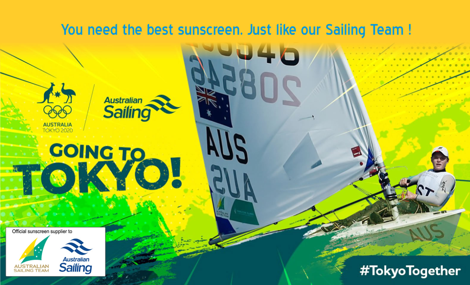 Sailor Sunscreen is an oficial sunscreen supplier for Australian Sailng Olympic team
